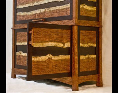 hand  bubinga wenge gun cabinet  corlis woodworks