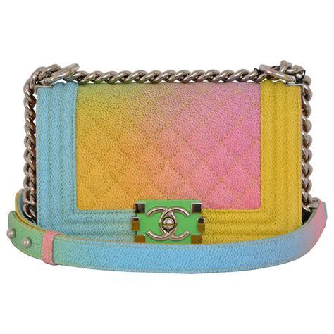 chanel rainbow chanel boy handbag small  crossbody  sold   sale  stdibs