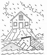 Flood Coloring Printable sketch template