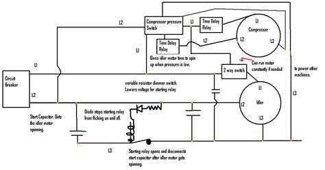 rotary phase converter that only runs when the compressor runs