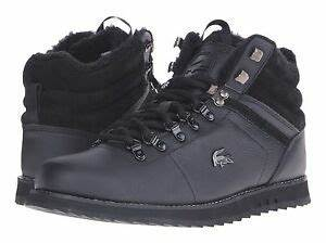 NWT LACOSTE JARMUND PUT SNEAKERS MENS SHOES LEATHER BLACK ...