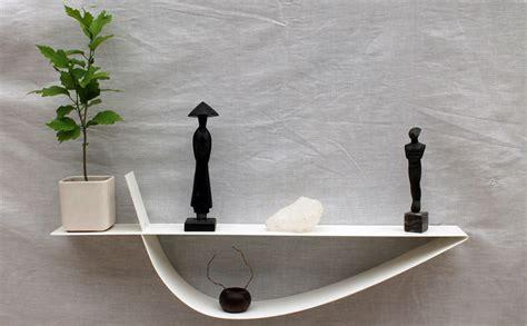 etagère murale blanche étagère design métal tablette