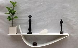 étagères Murales Design : etag re murale blanche tag re design m tal tablette murale 70 cm ~ Teatrodelosmanantiales.com Idées de Décoration