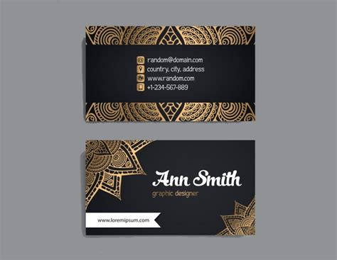luxury business card examples  psd ai eps