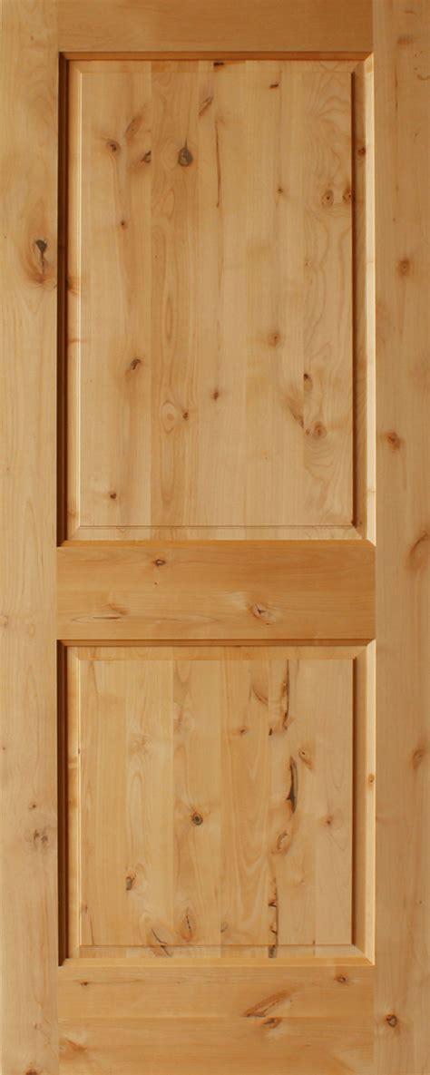 knotty alder  panel square top rail   thick