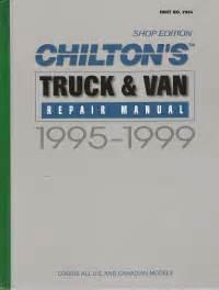 what is the best auto repair manual 1999 volvo s80 user handbook 1995 1999 chilton s truck van repair manual shop edition