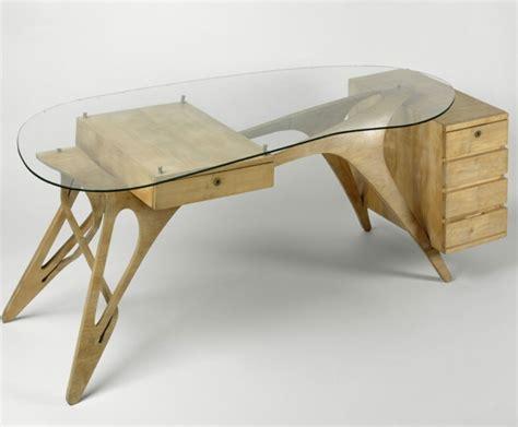 bureau verre et bois bureau design bois verre mzaol com