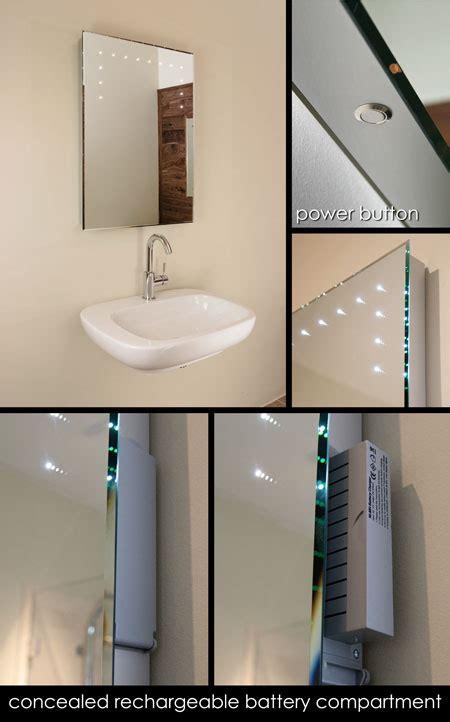 chargeable illuminated bathroom mirrors led bathroom