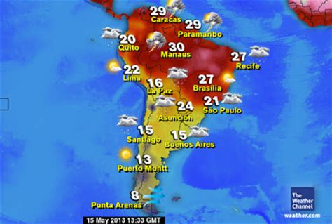 english colsam whats  weather   south american