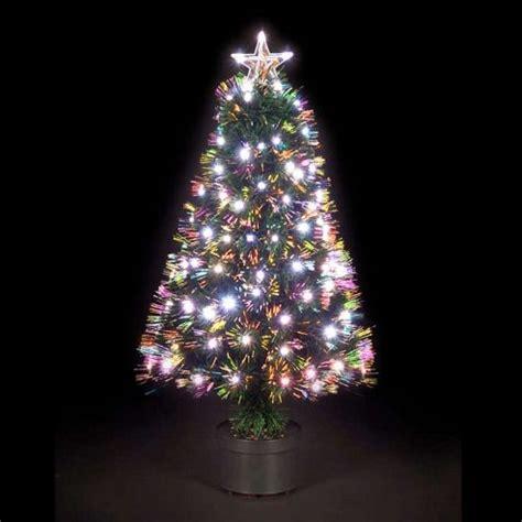 buy 4ft saturn fibre optic christmas tree with warm white