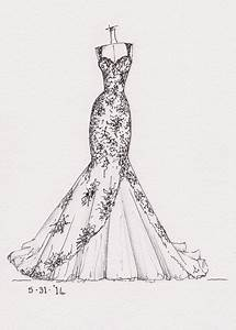 Wedding Dress Drawing drawn wedding dress pencil and in ...