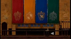 Image Banners Of The Four Hogwarts Houses Harry