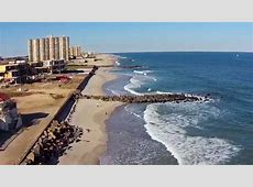 Drone Flight Over Jersey Shore Private beaches, Long