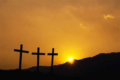 Silhouette Jesus Christ Crucifixion Three Sunset Cross