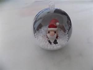 Boule Noel Transparente : boule en plastique transparente avec un p re no l accessoires de maison par ~ Melissatoandfro.com Idées de Décoration