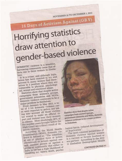 horrifying statistics draw attention  gender based