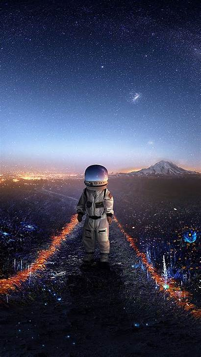 Space Astronaut Galaxy Stars Iphone Wallpapers Vibe