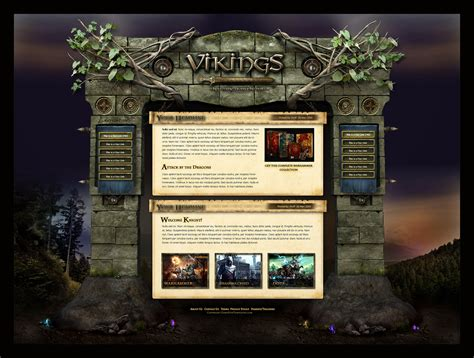 website templates fantasy fantasy magic website template by karsten on deviantart