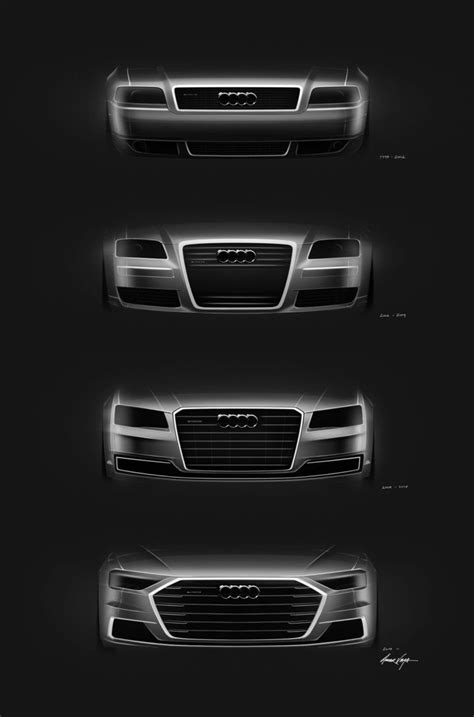 Audi A8 Front Grille Design Sketches Comparison | design