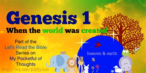 Genesis 1  My Pocketful Of Thoughts