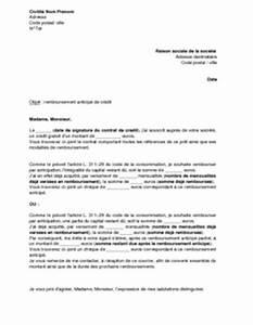 Remboursement Assurance Emprunteur Lettre Type : lettre de remboursement anticip d 39 un cr dit gratuit ~ Gottalentnigeria.com Avis de Voitures