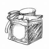 Bottle Blank Vector Label Potion Monochrome Bubbled Elixir Square sketch template