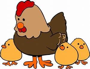 Hen With Chicks Clip Art at Clker.com - vector clip art ...