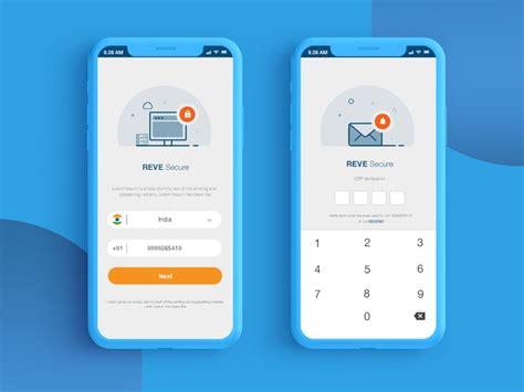 login otp screens  images android app design