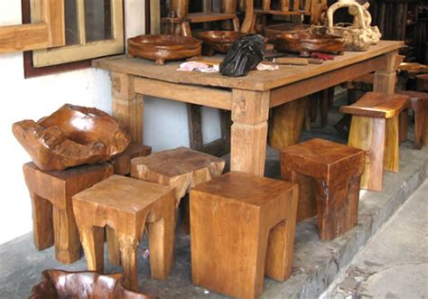 java teak stool furniture