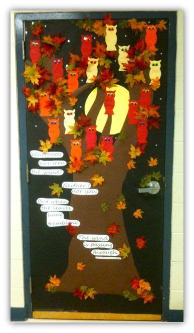 decoration de porte de classe d 233 co de porte octobre l automne cenicienta au cm porte de classe d 233 co et