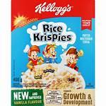 Rice Cereal Krispies Shoprite Vanilla Kellogg Cereals