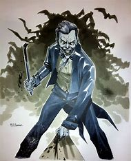 Batman Joker Comic Art