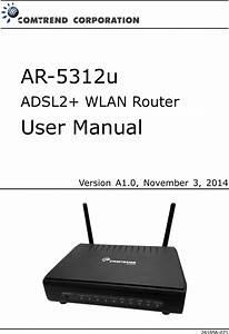 Comtrend Ar Vdsl Bonded Router User Manual Um