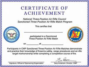 participant certificates that may be completed and awarded With shooting certificate templates