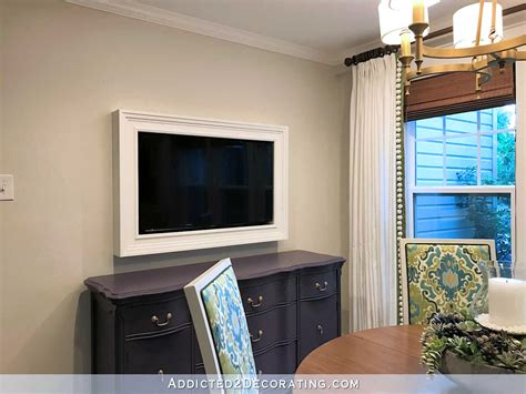 Decorating Ideas For Wall Mounted Tv by Custom Diy Frame For Wall Mounted Tv Finished