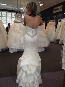 what type of bustle would you do on this dress show me With how to bustle a lace wedding dress