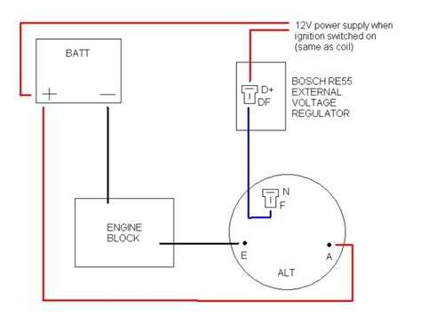 3 Wire Alternator Wiring Diagram Rgulator by Bosch Alternator With External Regulator Problem On The R8
