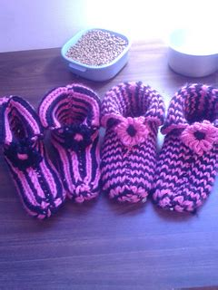 ravelry loom knit   fit double knit slippers