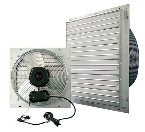 exhaust fan with shutter vpes outdoor rated shutter exhaust fan w cord 12 inch 3
