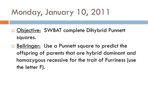 For example, we can predict the outcome for offspring as the traits for both height and. Dihybrid Punnett Squares