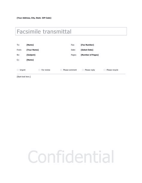 basic fax sample cover sheet template  word