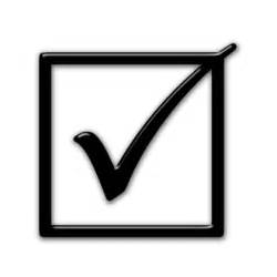 Box with Check Mark Symbol