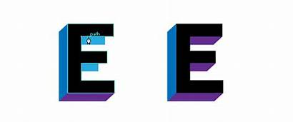 3d Letters Create Illustrator Adobe Tools Vector