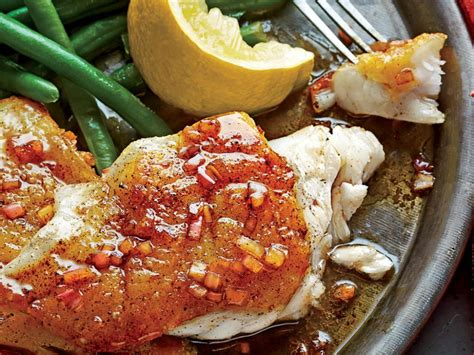 pan grouper seared sauce butter fish balsamic recipes brown recipe cooked fillet easy myrecipes follow direction serving meat