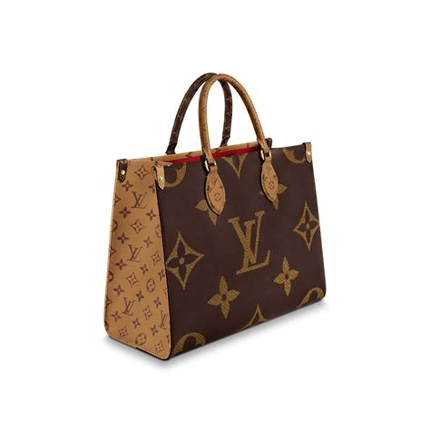 louis vuitton onthego gm tote bag brown reverse eyeconicwear