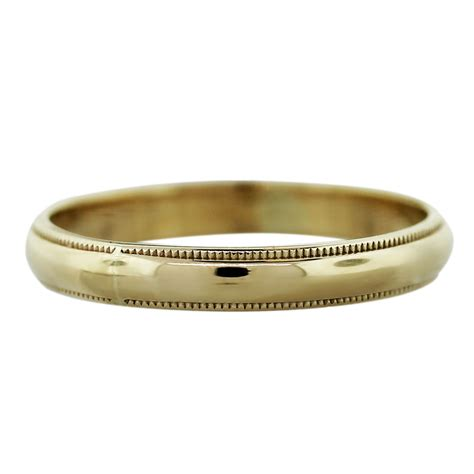 bvlgari ring 14k yellow gold 1 6dwt mens wedding band ring boca raton