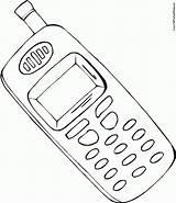 Coloring Phones Phone Cell Cellphone Iphone Drawing Pages Mobile Flip Printable Draw Drawings Template Headphones Screen Getcolorings Getdrawings Colorier Print sketch template