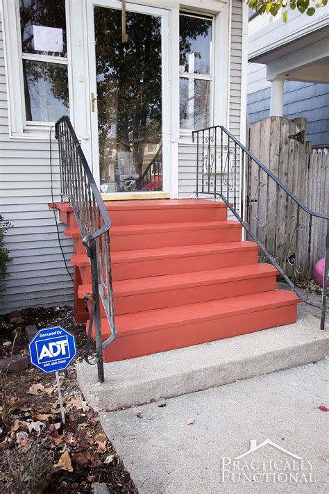 Project Curb Appeal Painting The Front Steps