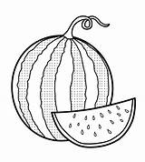 Watermelon Coloring Fresh Pages Sheets Fruit Coloringpagesfortoddlers Colouring sketch template