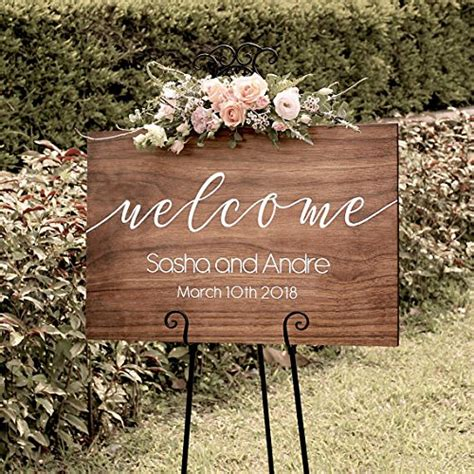Wedding Signs by Personalized Rustic Wedding Welcome Sign Wood Wedding Sign